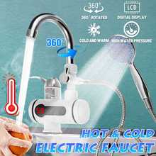 3000W Tankless Water Heater Faucet 3S Fast Heating With Shower Head Instant Hot Water Electric Tap for Kitchen and Bathroom