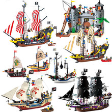 Legoes DIY Model Sets Pirates Castle Figures Caribbean Building Blocks Children Toys Kids Educational Bricks Gifts enlighten pirate ships model compatible legoinglys warship boats castle caribbean pirates medieval figures building blocks toys page 8 page 9