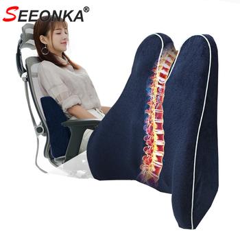 Poduszka ortopedyczna poduszka na krzesło poduszka do auta stabilizator lędźwiowy głęboki dekolt na plecach poduszka pamięć bawełna łożysko siedziska powrót poduszka Dropship tanie i dobre opinie SEEONKA Bawełna pamięci velvet cloth orthopedic pillow back pillow chair cushion sofa back cushion orthopedid pillow chair pillow