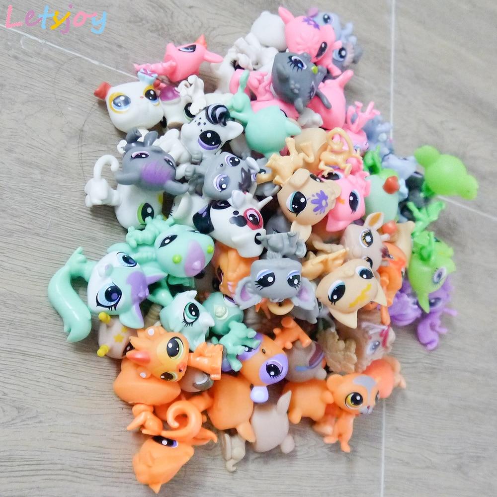 Letsjoy 10-30pcs great dane veados bonecas brinquedos para as crianças mini pet littlest pony cavalo Bonito Gato de estimação loja figura de ação mole