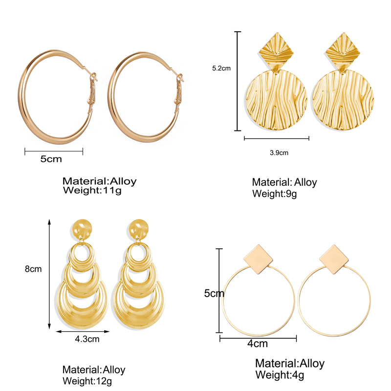 H959f117b27cd47eab1a90ac60b806c75e - Hot Sale Gold Drop Earrings Jewelry Earrings For Women C Shaped Round Geometric Earring Female Fashion Jewelry Gifts