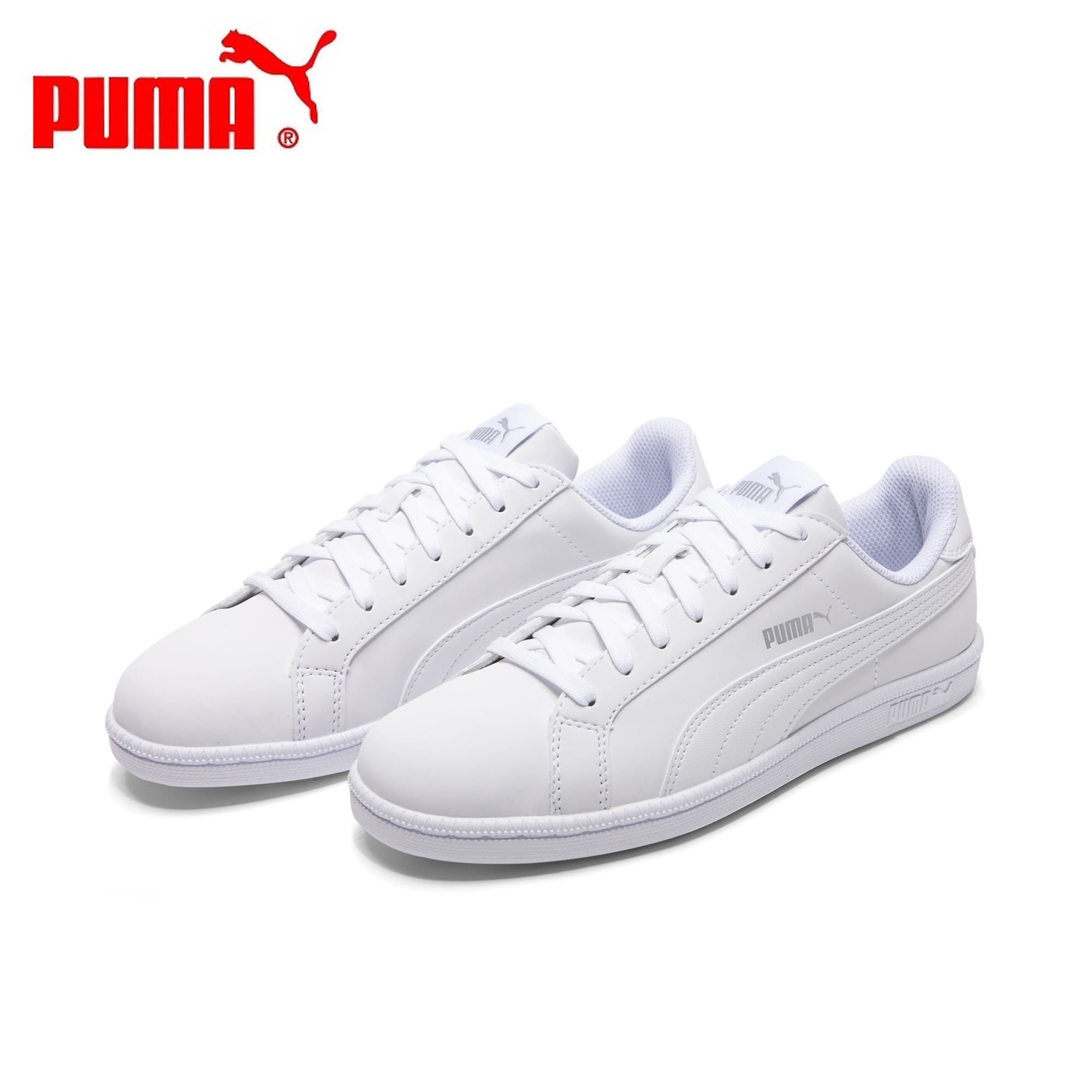 Original Authentic PUMA Men Sport Sneakers Smash Buck Women Skateboarding Shoes White Classics Style Low Flat 2019 New 35675324