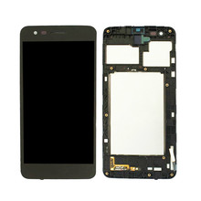 цена на 100% Tested high quality For LG K4 2017 M160 M150 LCD Display Fortune Touch Screen Digitizer Full Assembly Black,No/with Frame