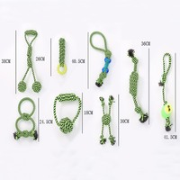 Pet Products Pet Toy dog toys chew teeth clean fun green rope ball game for big small cat dog fo outdoor Play