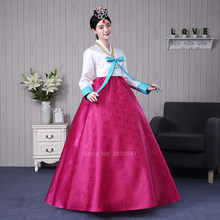 Traditional Korean Clothing Hanbok Bride Noble Women Korea Dance Princess Ancient Costume Wedding Top Dress Suit Asian Long Robe(China)
