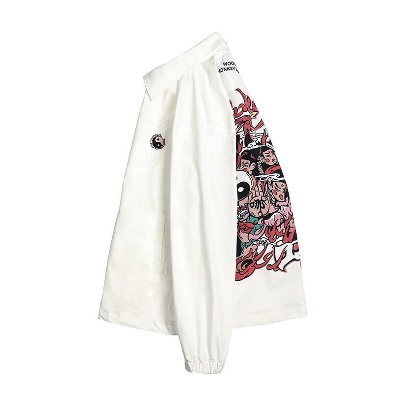 Американская уличная мода, мужская куртка, высшее качество, брендовая Дизайнерская куртка на молнии в стиле хип хоп, Мужская джинсовая курт... - 3