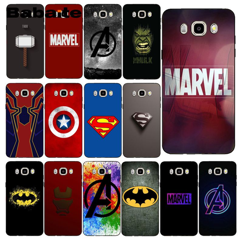 Babaite <font><b>Marvel</b></font> Superheroes <font><b>Logo</b></font> Phone <font><b>Case</b></font> For <font><b>Samsung</b></font> <font><b>Galaxy</b></font> J7 J6 J8 J4 J4Plus J7 DUO J7NEO J2 J7 Prime image