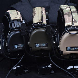 Image 3 - Hunting Headset Tactical Headphone Airsoft Camouflage Military Standard Headset Noise Canceling Aviation Walkie Talkie Helmet