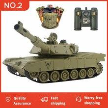 Tanque rc m1a2 T-34 estados unidos guerra militar batalha lançamento bunker controle remoto carro hobby menino brinquedos para crianças presente