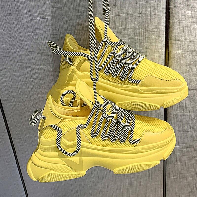 True Sneakers Fashion Women Vulcanize Shoes Platform Sneakers Designer Womens Platform Sneakers Casual Trainers Women Dad Shoes(China)