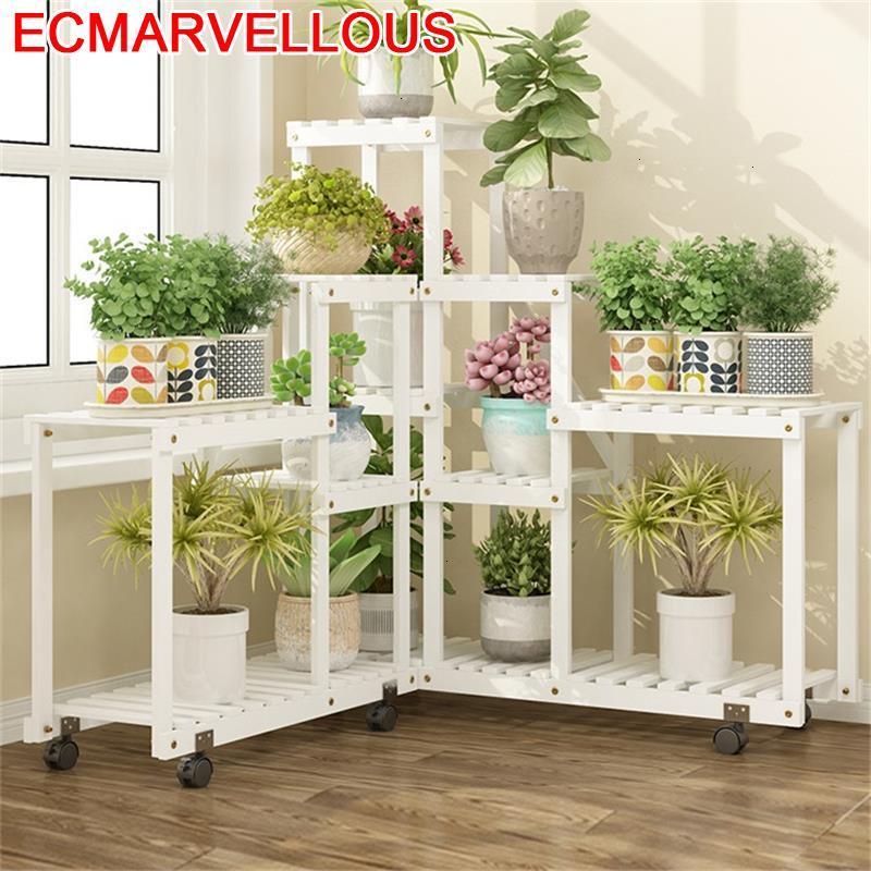 Escalera Decorativa Madera Table Garden Shelves For Estante Para Plantas Outdoor Flower Shelf Rack Stojak Na Kwiaty Plant Stand