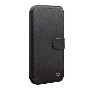 Image 1 - QIALINO موضة أغلفة جلدية حقيقية آيفون 11Pro/11 جراب هاتف فاخر المغناطيسي مشبك فتحة للبطاقات ل iPhone11 ProMax
