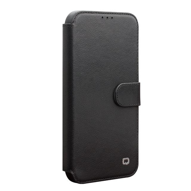 QIALINO موضة أغلفة جلدية حقيقية آيفون 11Pro/11 جراب هاتف فاخر المغناطيسي مشبك فتحة للبطاقات ل iPhone11 ProMax