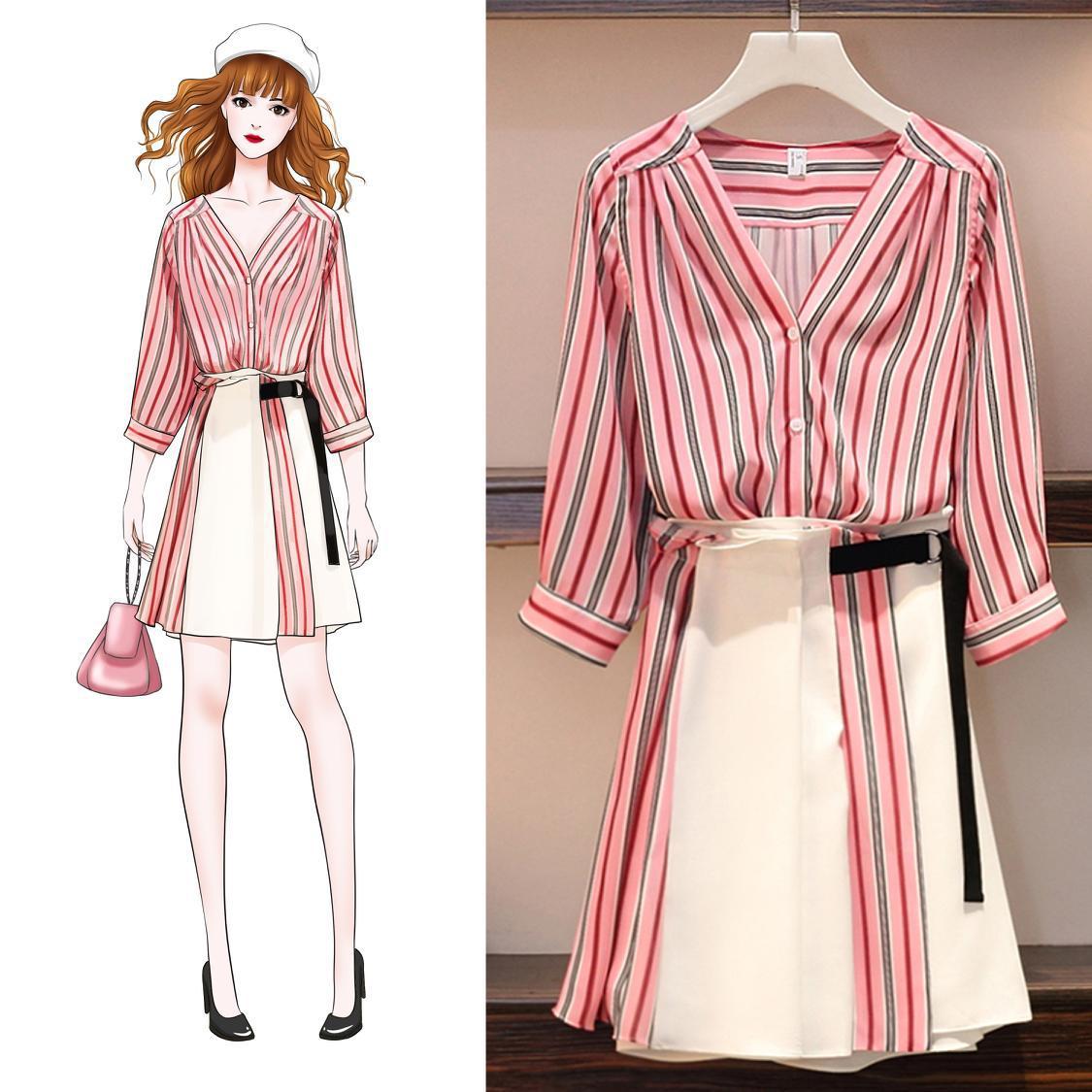 Very Fairy Of France Non-mainstream Chiffon Dress Women's Summer Set Skirt Two-Piece Set French Fu Gu Qun Yamamoto Immortal