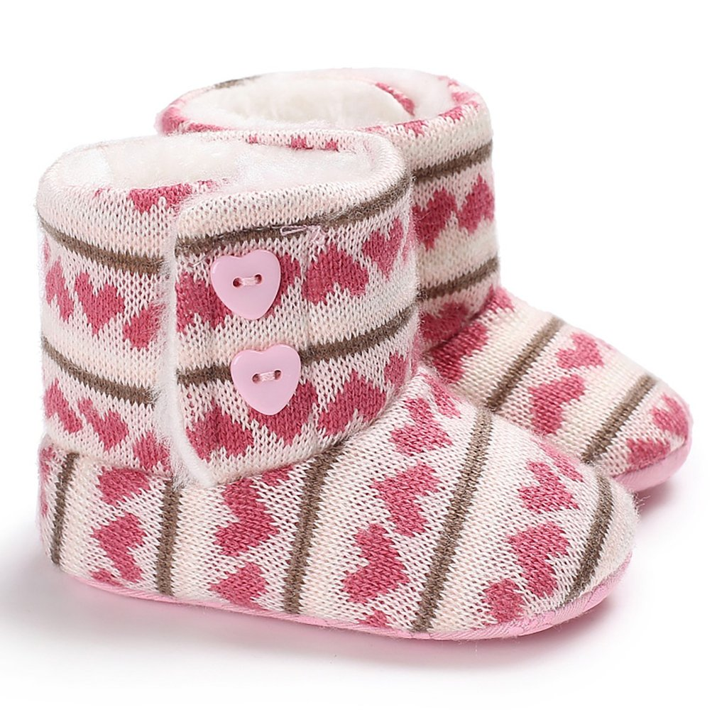 614 Cute Soft Sole Baby Moccasins Cotton Child Shoes Comfortable Bootie Winter Warm Infant Toddler Crib Shoes