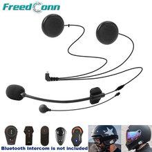 Freedconn acessórios da motocicleta interfone de ouvido macio & duro mic para TCOM-SC FDC-01VB colo T-MAX T-REX completo/aberto rosto capacete