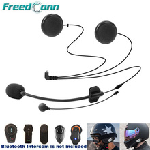 Freedconn Motorfiets Intercom Accessoires Soft & Hard Oortelefoon Mic Voor TCOM SC FDC 01VB Colo T MAX T REX Full/Open Helm