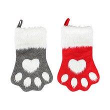 Рождественский чулок для домашних животных, собак, домашних животных, Большой Чулок для персонализации