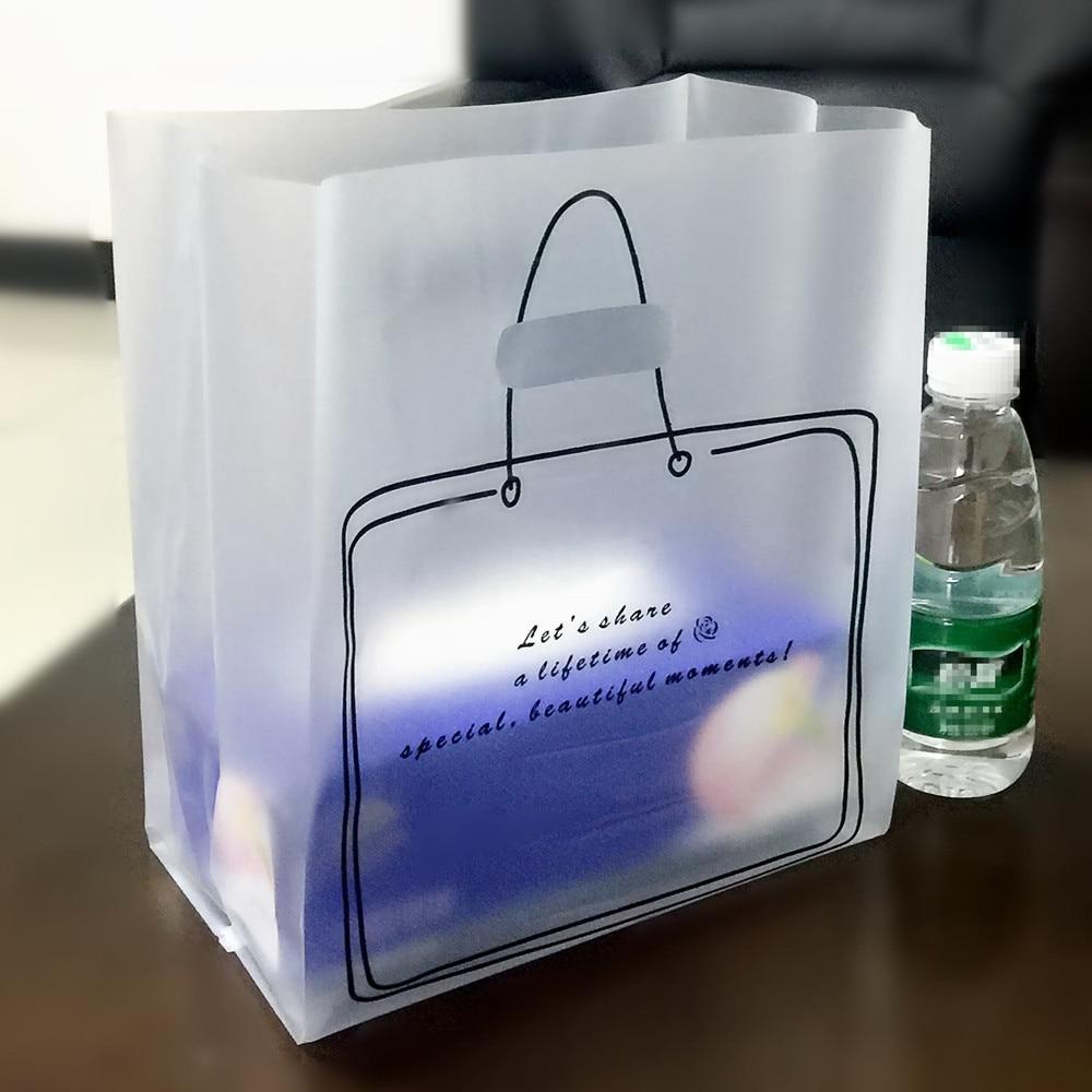 Paquet de boîte à déjeuner de nourriture claire givrée à emporter des sacs en plastique au détail