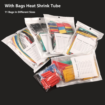 цена на Mixed Set Heat shrink tube kit Insulation Sleeving Wrap  Polyolefin Shrinking Assorted Heat Shrink Tubing Wire Cable Connection