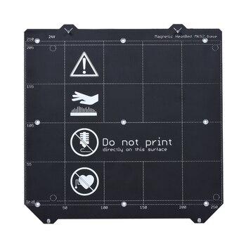 Части 3d принтера клон I3 MK3 Магнитный нагревательный элемент MK52 24V + MK3 пружинная стальная пластина платформа + пей лист для MK3/MK3S кровать с подо...