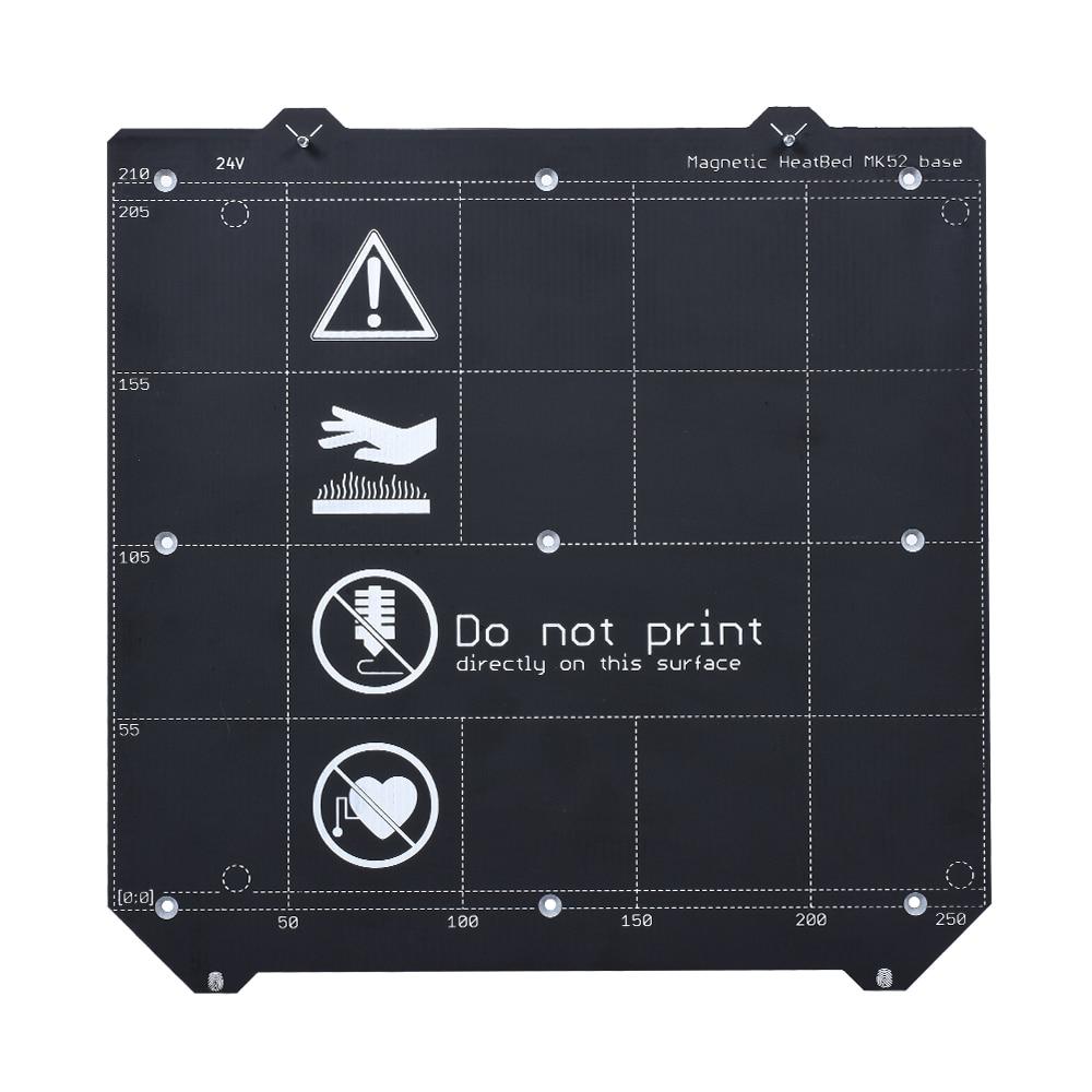 3D Printer Parts Clone I3 MK3 Magnetic Heatbed MK52 24V+MK3 Spring Steel Plate Platform+ PEI Sheet f