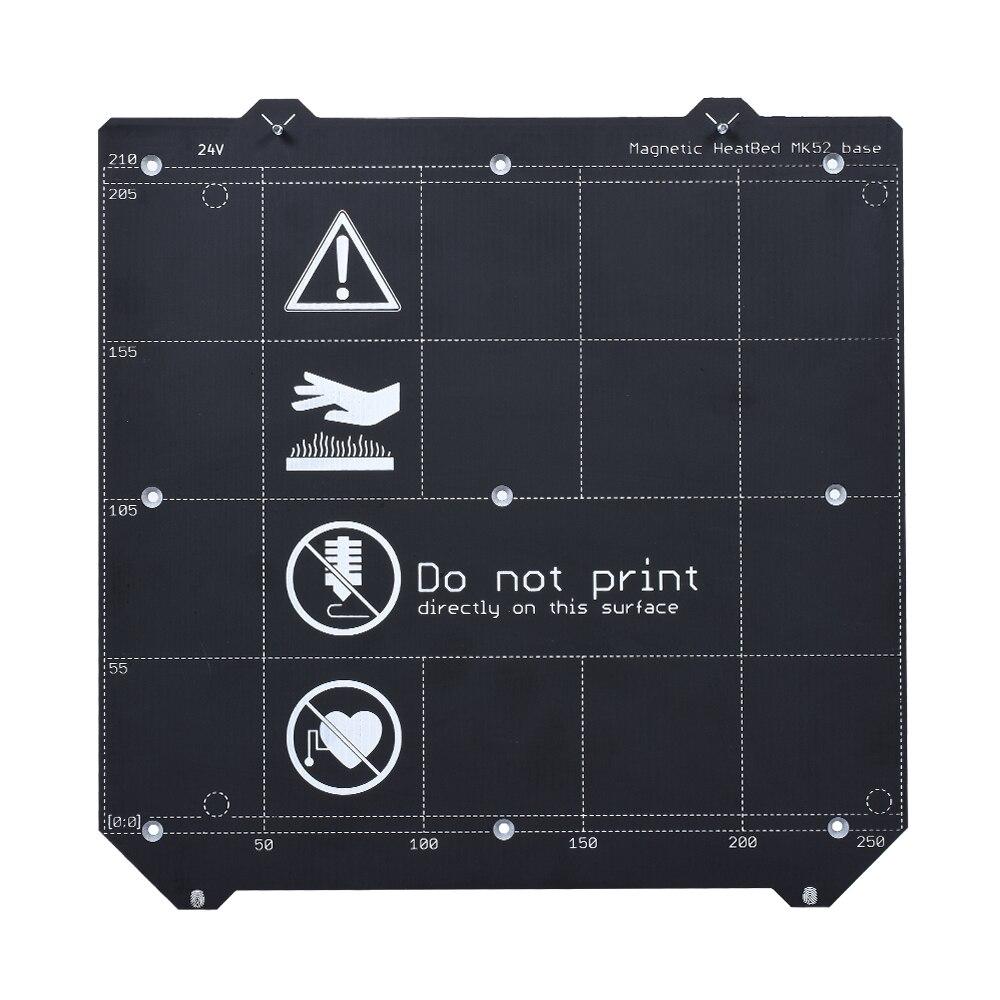Pièces d'imprimante 3D Clone I3 MK3 lit chauffant magnétique MK52 24V + MK3 Plate-forme de plaque d'acier à ressort + feuille PEI pour lit chauffant MK3/MK3S