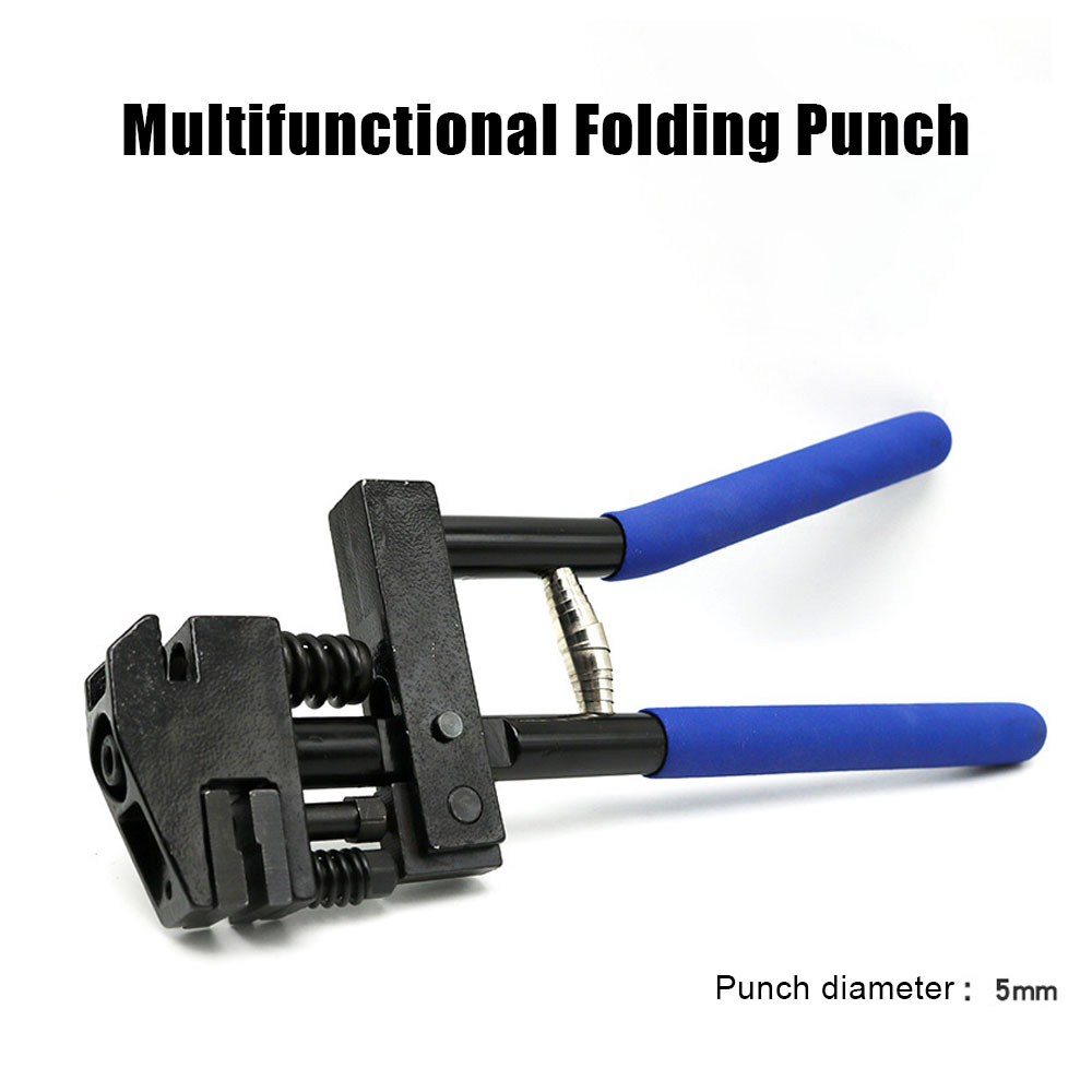 5 mm Edge Setter Metal Card Tag PVC Office Paper Open Round Hole Rivet Pliers Hole Puncher Puncher Tool Crimping Clamping Pliers