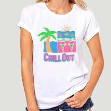 VTG 1990 Chill T camisa de playa Tropical Surf de la onda de la Isla de Margarita de Sz S-3XL-0887D(China)