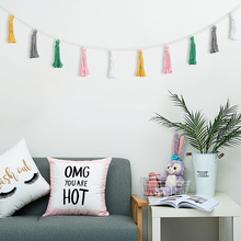 Macrame Tassel Bunting Party Birthday Room Decoration Wedding Bachelorette Thanksgiving Decorations for Home