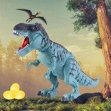 Dinosaur Toy Electric-Spray Robot Animal-Projection Gift Model Lay-Eggs Educational Cartoon