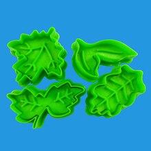 Форма листа пластиковый набор резаков для печенья кондитерский торт форма для выпечки для печенья пружина для принтера Плунжерные Инструменты для выпечки украшения торта инструменты