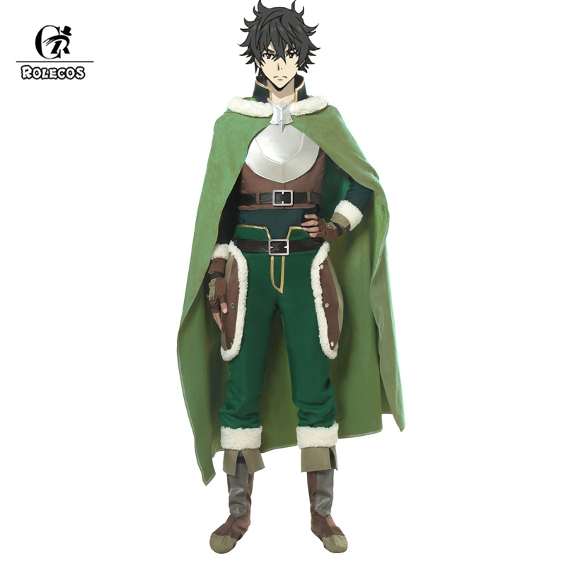ROLECOS The Rising Of The Shield Hero Cosplay Costume Naofumi Iwatani Costume Cosplay Shoes Cover Hero Cloak Men Halloween Party