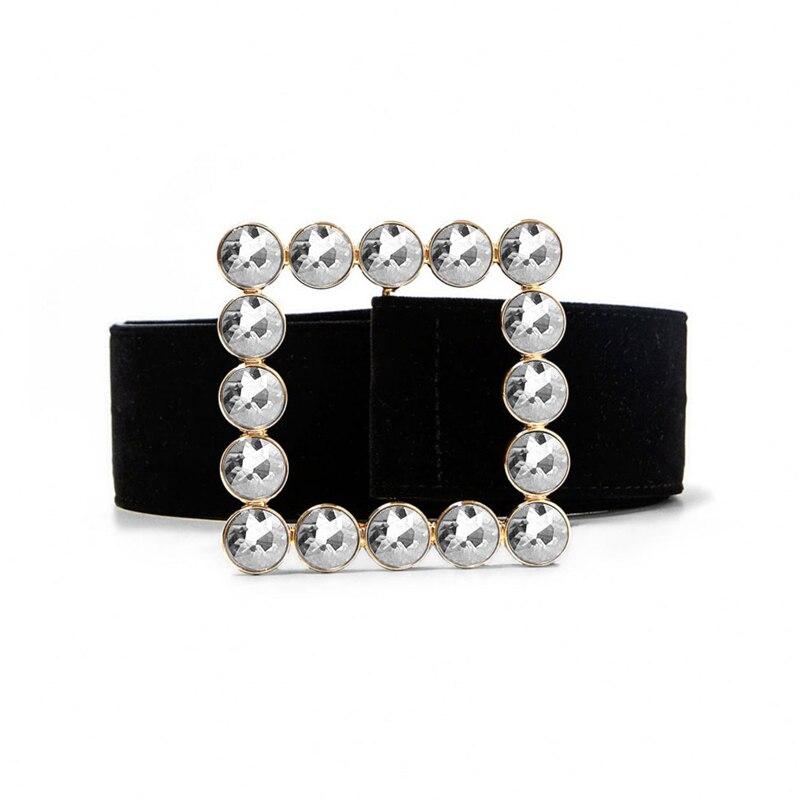 Glitter Rhinestone Strass Belt Luxury Designer Black Big Wide Belts For Women Waist Dress Girls Female Chastity Ceinture Fashion