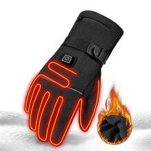 HEROBIKER Мотоциклетные Перчатки Водонепроницаемый с подогревом Guantes Сенсорный экран Батарея приведенный в действие Мотогонки Ездовые перчатки зимние