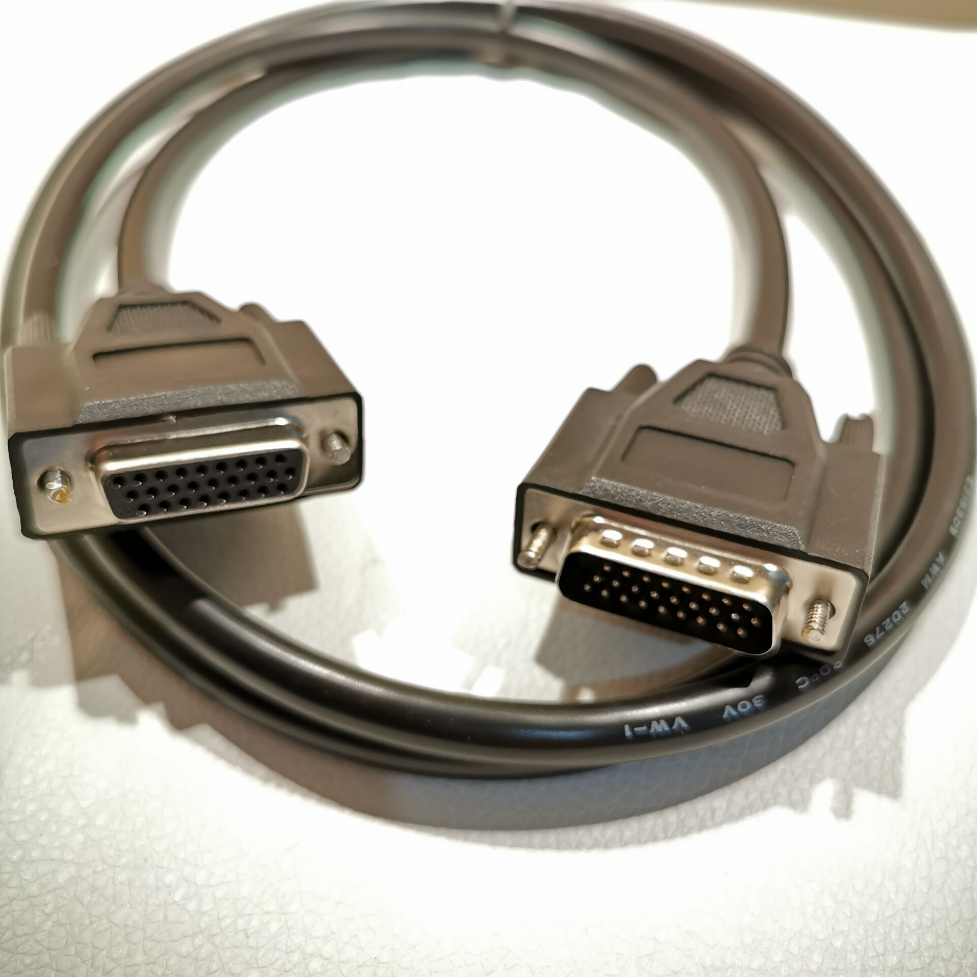 DB26 Male To Female Adapter Data Cable HDB26 26Pin Extension Wire Black 50cm/1.5M