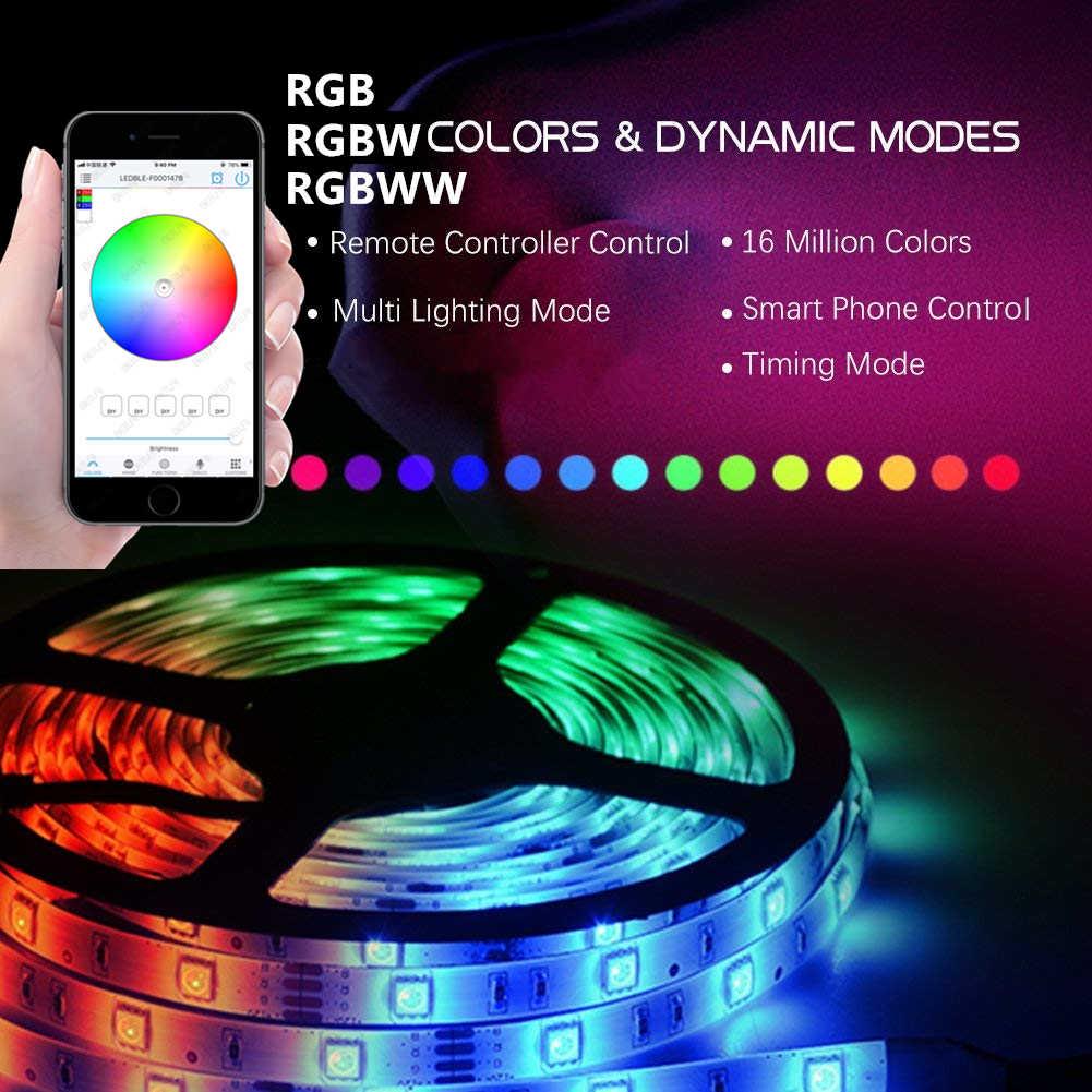 C 12V 24V rvb/RGBW/RGBWW Led de contrôle Bluetooth rvb contrôleur magique maison Mini rvb Led de contrôle pour bande Led sans fil