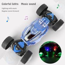 RC Stunt Car With Light Sound Twisting Deformation