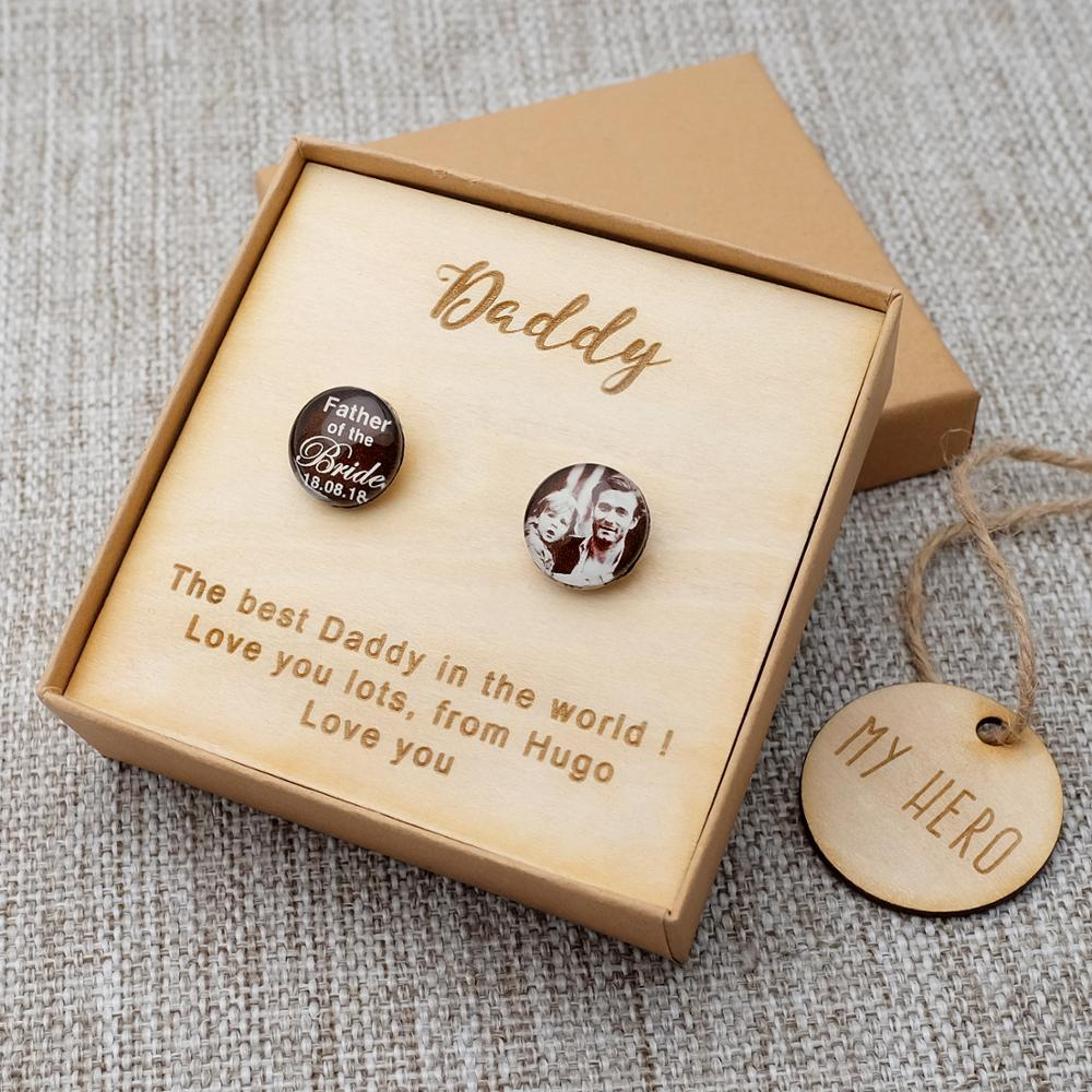 Personalized Cufflinks Photo Cufflinks Set Fathers Day Gift Birthday Gift For Him Men Shirt Cufflinks