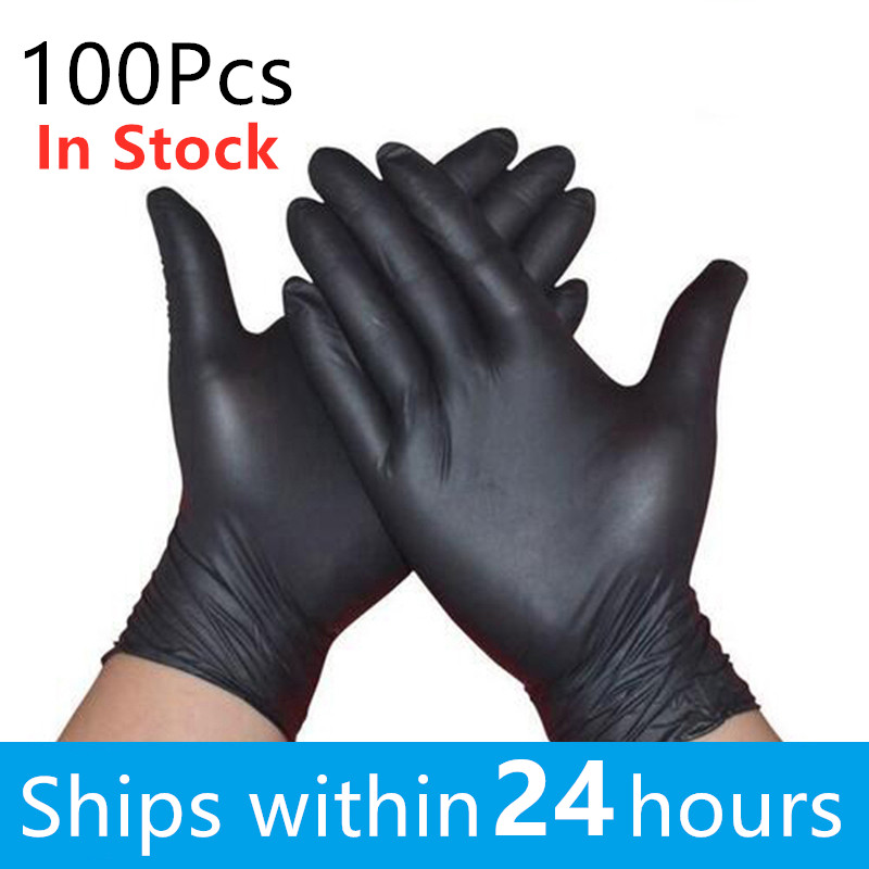 100pcs/set Disposable Gloves Latex For Home Cleaning Medical/Food/Rubber/Garden Gloves Universal For Left And Right Hand M L XL