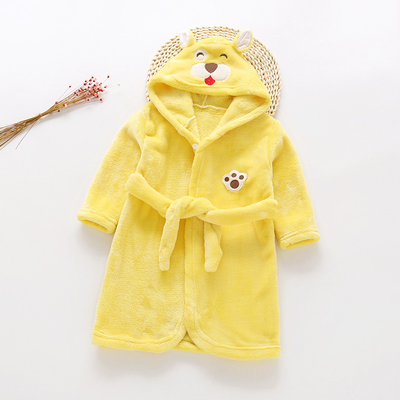 2018 New Products Autumn & Winter CHILDREN'S Bathrobes Flannel Pajamas Men And Women Children Robe Autumn Childrenswear Kids Hom