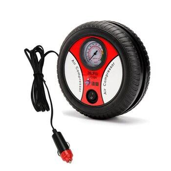 Car Air Pump DC 12V Auto Pump Portable Electric Mini Tire Inflator Air Compressor For Car portable air compressor car tire inflator tool black red