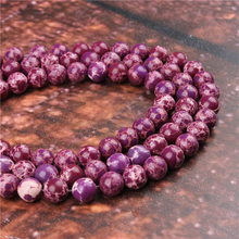 Fashion Purple Emperor Round Beads Loose Jewelry Stone 4/6/8/10 / 12mm Suitable For Making Jewelry DIY Bracelet Necklace