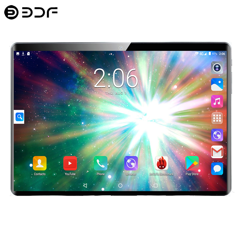 New 10.1 Inch 4G Phone Call Tablets Android 7.0 Octa Core 4G+64G Tablet 3G 4G LTE Dual SIM Card Laptop WiFi Bluetooth Tablet PC