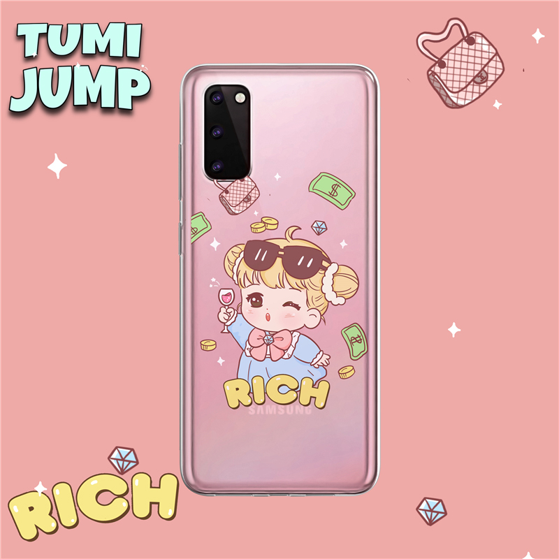 TUMIJUMP Series Luck Rich Girl Soft TPU Silicone Case For Samsung Galaxy S20 Ultra S10 S9 S8 Plus S10E Note 10 Pro 9 A31 A51 A71 image