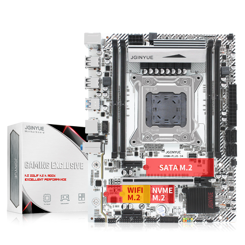 X99 Desktop motherboard LGA 2011-3 support DDR4 RAM Xeon E5 V3&V4 processor SATA pci-e M.2 NVME X99M PLUS D4 motherboards 1