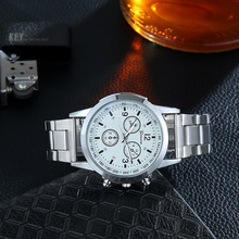 купить 2019 Relogio Mens watches top luxury brand Man Watch Stainless Steel Quartz Analog Sport Military Wrist Watch Men Reloj Hombre по цене 364.08 рублей