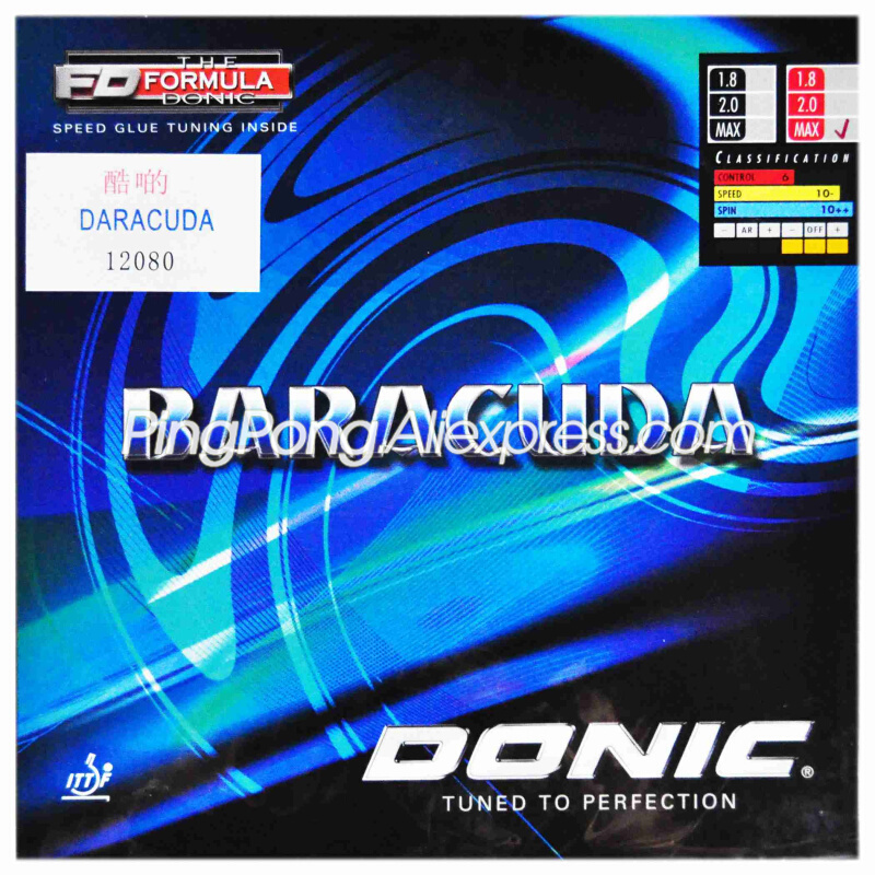 DONIC BARACUDA Table Tennis Rubber Original DONIC BARACUDA Ping Pong Sponge