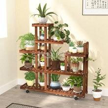 Деревянная стойка для цветов, подставка для растений, много цветов, подставка для бонсай, полка для двора, сада, патио, балкона, подставки для цветов
