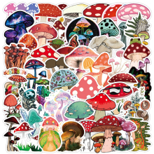 10/30/50PCS Cute Plant Mushroom Stickers Laptop Guitar Luggage Skateboard Car Waterproof Graffiti Sticker Funny Decal Kid Toys